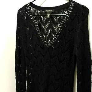 White House Black Market crocheted sweater small